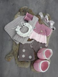 XXL Funny Bunny kledingset Dots pastel