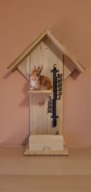 Thermometer huisje liggend konijn
