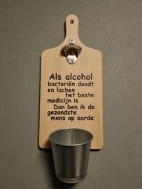 Als alcohol bacteriën doodt en lachen het beste medicijn is