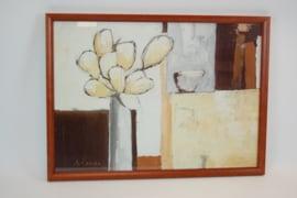 Schilderij  Bloem in vaas