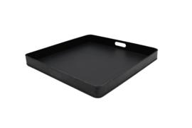 Dienblad metaal zwart 60x60x6 cm | L