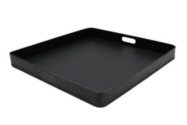Dienblad metaal zwart 80x80x6 cm | XL