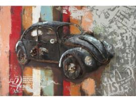 3D Schilderij metaal VW Kever