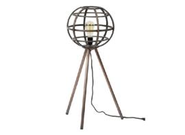 Vloerlamp Ø30 globe antiek koper
