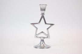 Kandelaar zilver stervorm