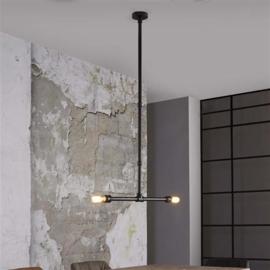 Hanglamp industrial tube verstelbaar zwart