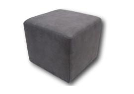 Hocker/poef kubus grijs