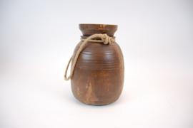 Indisch houten pot 29 cm