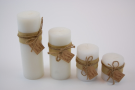 Handmade frost candle wit