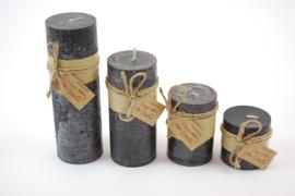 Handmade frost candle zwart