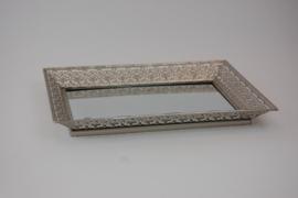 dienblad zilver/spiegel