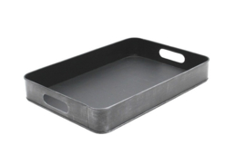 Dienblad metaal grijs 44x30,5x6 cm | M