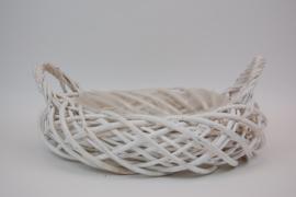 Mandwerk riet wit 18 cm