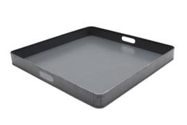 Dienblad metaal grijs 60x60x6 cm | L