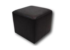 Hocker/poef kubus antraciet