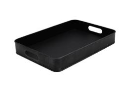 Dienblad metaal zwart 44x30,5x6 cm | M