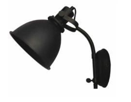 Wandlamp Spot Zwart Metaal