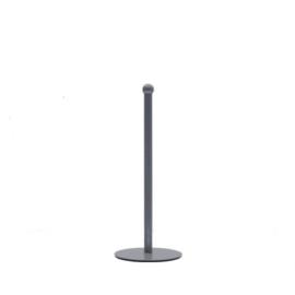 Keukenrolhouder grijs metaal 13x13x32,5 cm
