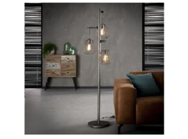 Vloerlamp 3-Lichts Lampoon Oud zilver