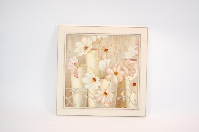 Schilderij  Met fleurige bloem