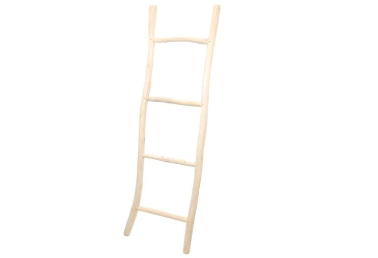 Decoratie ladder - naturel kleur teak