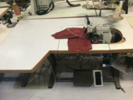 Industrie lockmachine 3/5 draads dubbel naalds