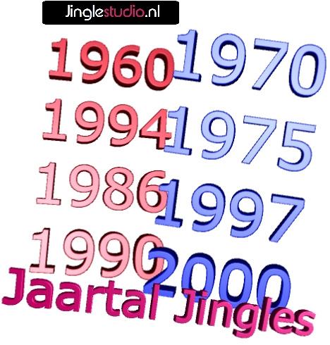 Jaartal jingles van 1960 tot 2000