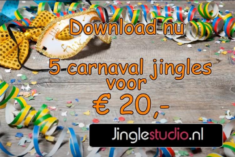 Carnaval pack  1 jingle met 4 hitmixen