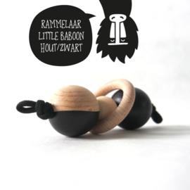 Rammelaar 'little baboon' hout/zwart