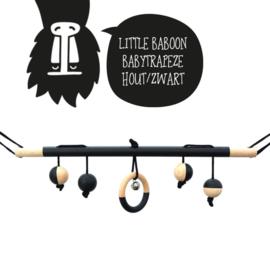 Babytrapeze 'little baboon' (zwart / hout)