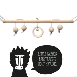 babytrapeze 'little baboon' (hout naturel)