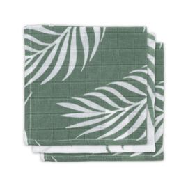 Jollein hydrofiel monddoekje Nature ash green 3 pack