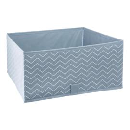 Opbergbox Canvas Blauw 2-pack met of zonder naam
