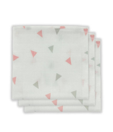 Hydrofiel monddoekje Little Lemonade Triangle grey/pink 3 pack