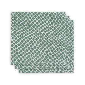 Jollein hydrofiel monddoekje Snake ash green 3 pack