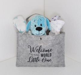 Tas Hond blauw met of zonder naam & geboortedatum