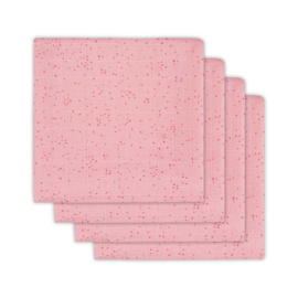 Jollein Hydrofiel luier mini dots blush pink 4 pack