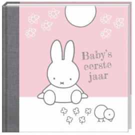 Invulboek Nijntje Baby's eerste jaar boek roze