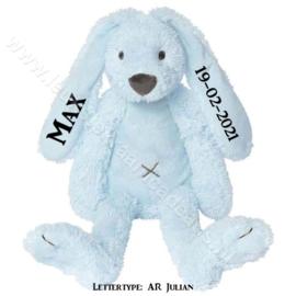 Happy Horse Rabbit Richie Blue met of zonder naam & geboortedatum 28 cm