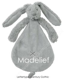 Happy Horse Rabbit Richie Grey knuffeldoekje met of zonder naam