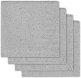 Jollein Hydrofiel luiers Mini dots mist grey 4 pack