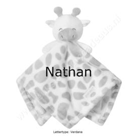 Knuffeldoek Giraf met of zonder naam