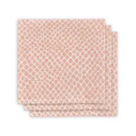 Jollein hydrofiel monddoekje Snake pale pink 3 pack