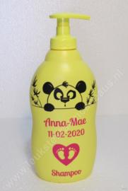 Zwitsal shampoo met naam en datum Panda