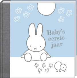 Invulboek Nijntje Baby's eerste jaar boek blauw