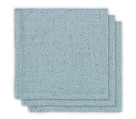 Jollein hydrofiel monddoekje Mini dots stone green 3 pack