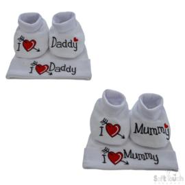 Gift set I love Mummy / Daddy