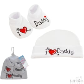 Gift set I love Mummy / Daddy