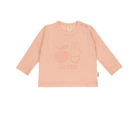 Nijntje T-shirt met lange mouwen perzik/roze met of zonder naam