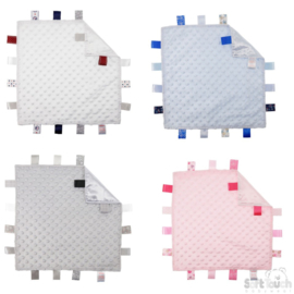 Labeldoek met bubbeltjes met of zonder naam